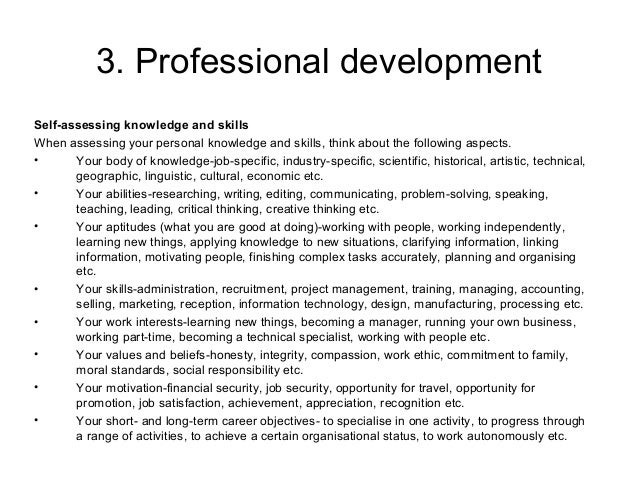 manage personal work priorities and professional development Research writing & technical writing projects for $30 - $60 i need an essay written which would be a personal reflection that explains how you would go about managing your work priorities and professional development.