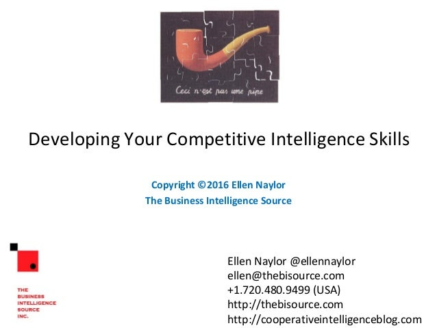 Develop your competitive intelligence skills