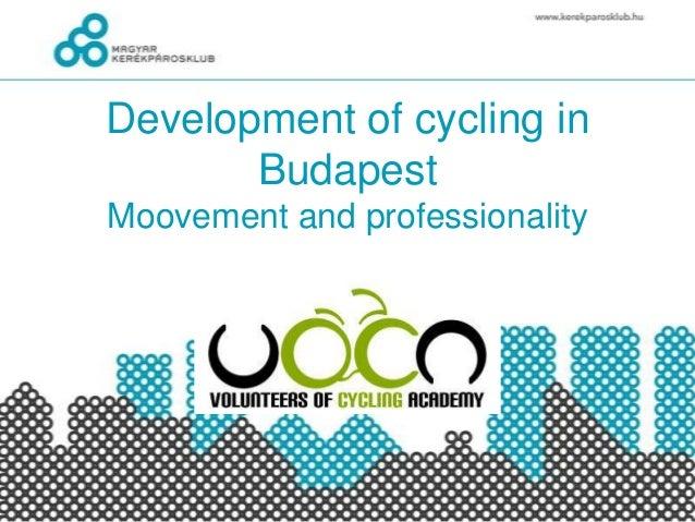 Develpoment of biking in budapest