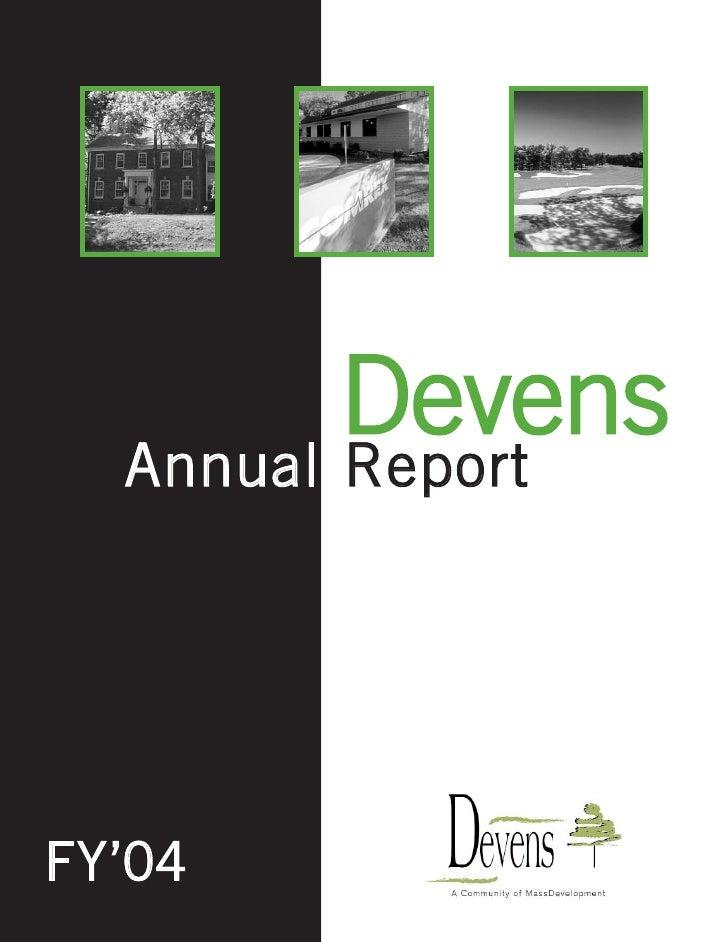 Devens 2004 Annual Report