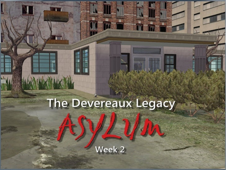 Welcome back to my very brief side project: The Devereaux Legacy Obviously Not Canon Asylum. Keith is the controllablewho ...