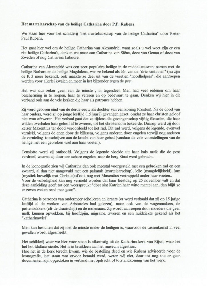De veroordeling van de heilige catharina.