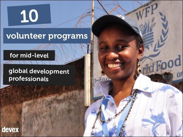 10 volunteer programs for mid-level global development professionals