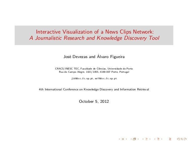 Interactive Visualization of a News Clips Network: A Journalistic Research and Knowledge Discovery Tool