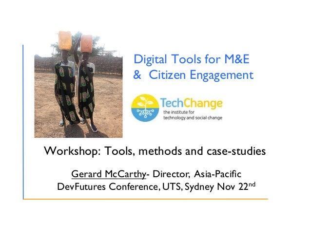 Digital Tools for M&E