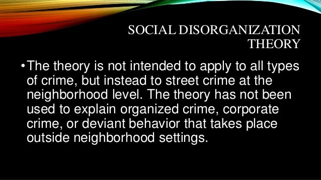deviance of organized crime Introduction to deviance, crime, and social control in the safe streets and communities legislation as a response to the infiltration of organized crime into.