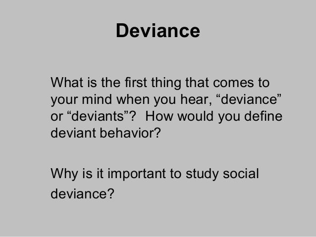 Defining Deviancy Down