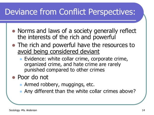 white collar crime social interaction Deviance and crime   symbolic interaction deviance results from social labeling  white-collar crime is much more consequential for society than.