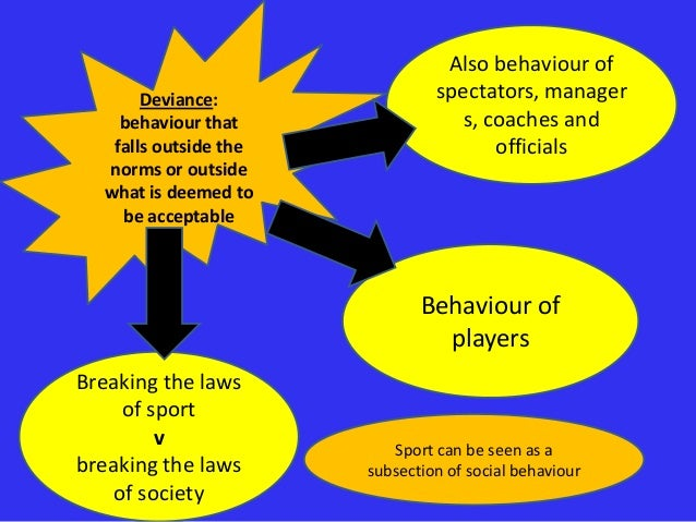 concepts of deviance in sports This covers topic 5: sport in society: 54 ethics and deviance in sport: part 1 you get the students worksheet, teachers worksheet with answers and powerpoint.