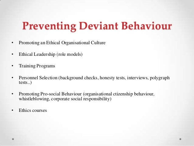 Deviant behavior research papers