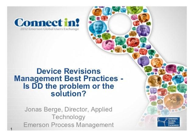 Device Revisions Management - Best Practices