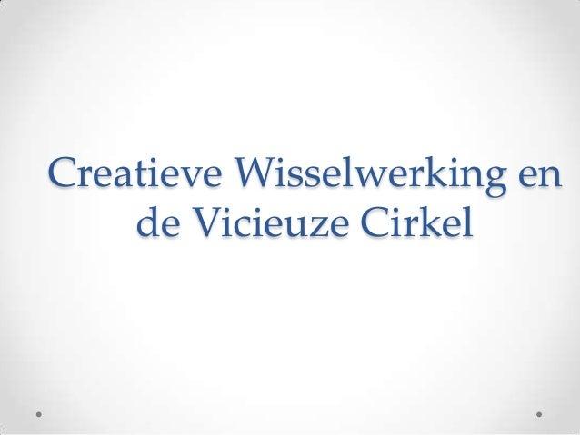 Creatieve Wisselwerking en    de Vicieuze Cirkel