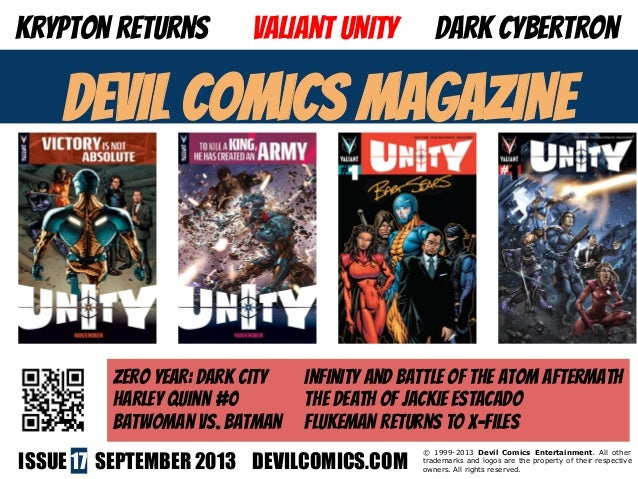ISSUE 17 SEPTEMBER 2013 DEVILCOMICS.COM © 1999-2013 Devil Comics Entertainment. All other trademarks and logos are the pro...