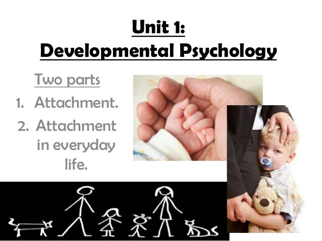 Unit 1:   Developmental Psychology   Two parts1. Attachment.2. Attachment   in everyday       life.