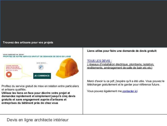 Devis architecte interieur en ligne for Architecte gratuit en ligne