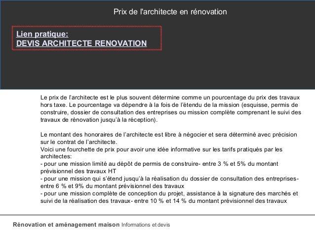 Devis Architecte Renovation