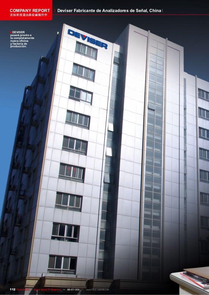 COMPANY REPORT                          Deviser Fabricante de Analizadores de Señal, China该独家报道由高级编辑所作■ DEVISERpasará pron...