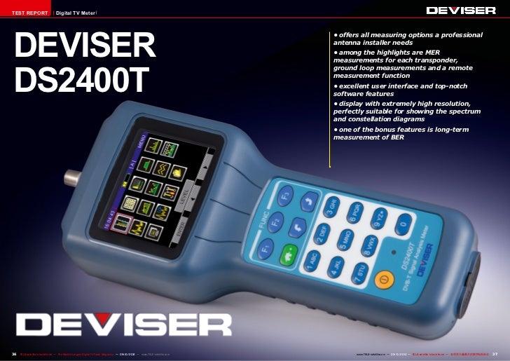 TEST REPORT                     Digital TV MeterDEVISER                                                                   ...
