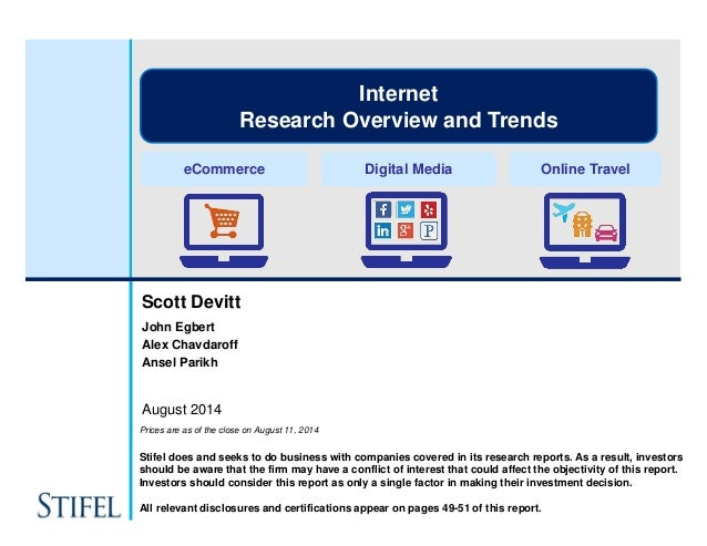 Stifel Internet Research - The Long Runway to Solving Consumer Problems