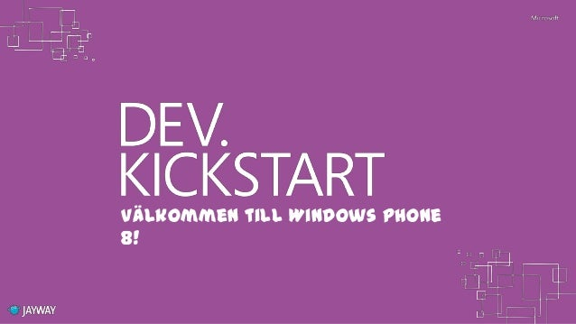 Windows Phone 8 Dev.KickStart - Lock screen, tiles and notifications