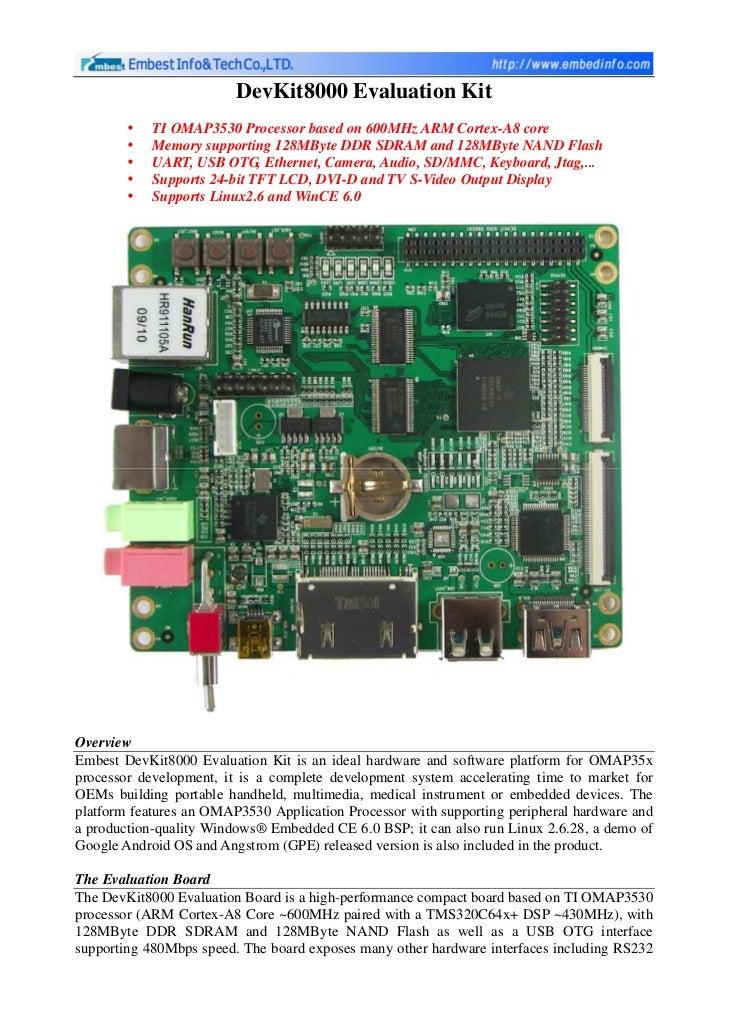 Devkit8000 OMAP3530 Evaluation Kit