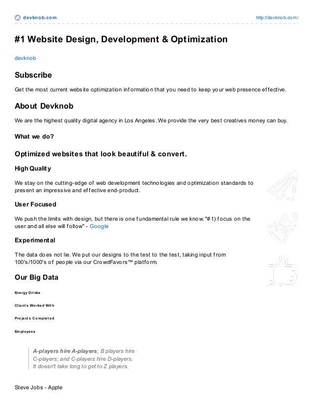devknob.com http://devknob.com/ #1 Website Design, Development & Optimization devknob Subscribe Get the most current websi...
