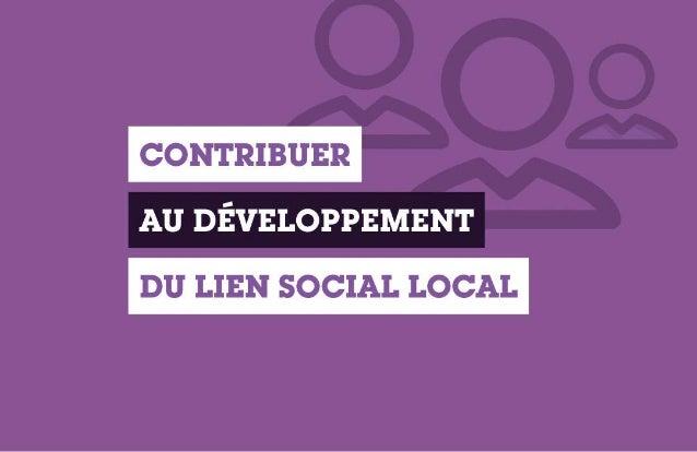 Développement du lien social local By Claude