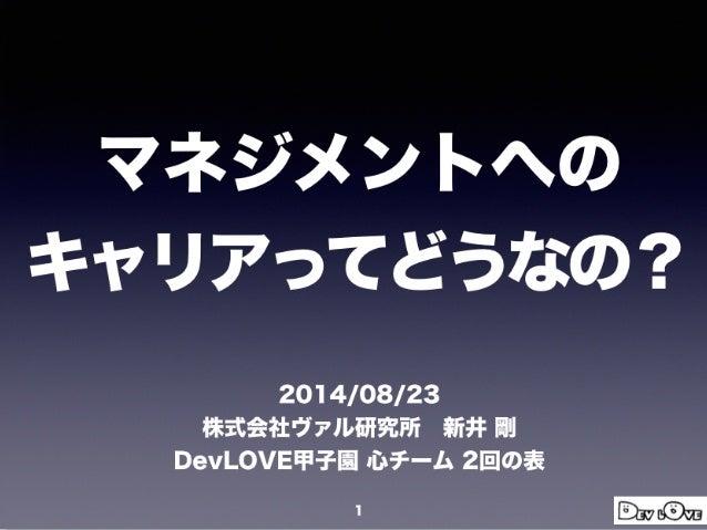 devlove2014management
