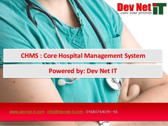 Devnet hospital management system