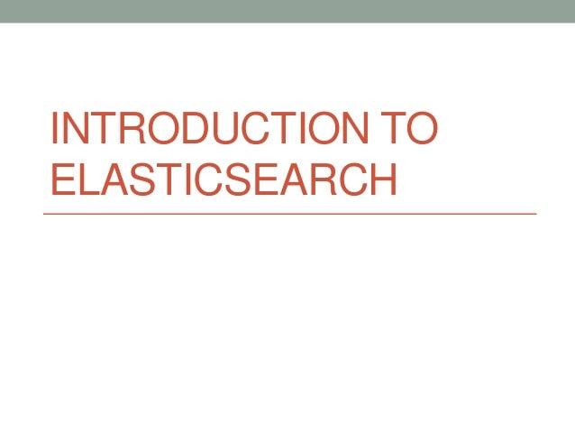 ElasticSearch - DevNexus Atlanta - 2014