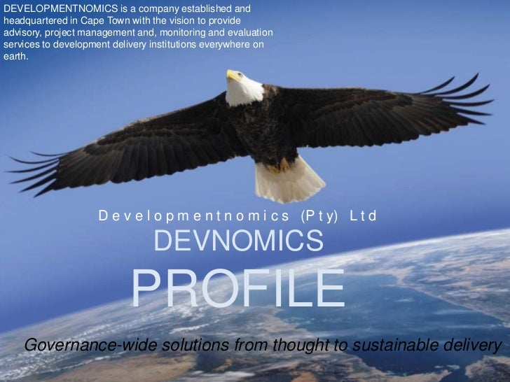 DEVELOPMENTNOMICS is a company established andheadquartered in Cape Town with the vision to provideadvisory, project manag...