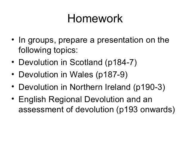 devolution in scotland essay