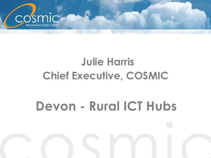 Julie Harris Chief Executive, COSMIC Devon - Rural ICT Hubs