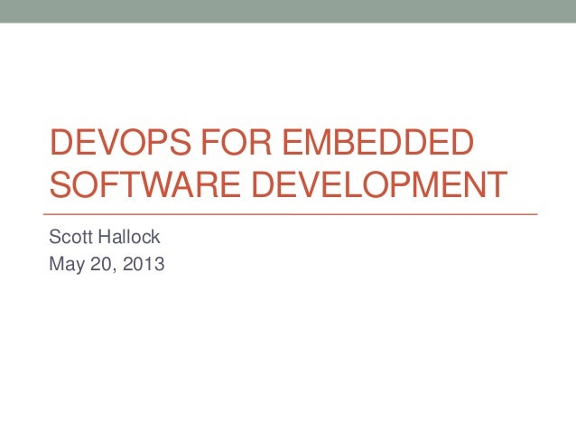 DevOps For Embedded Software Development