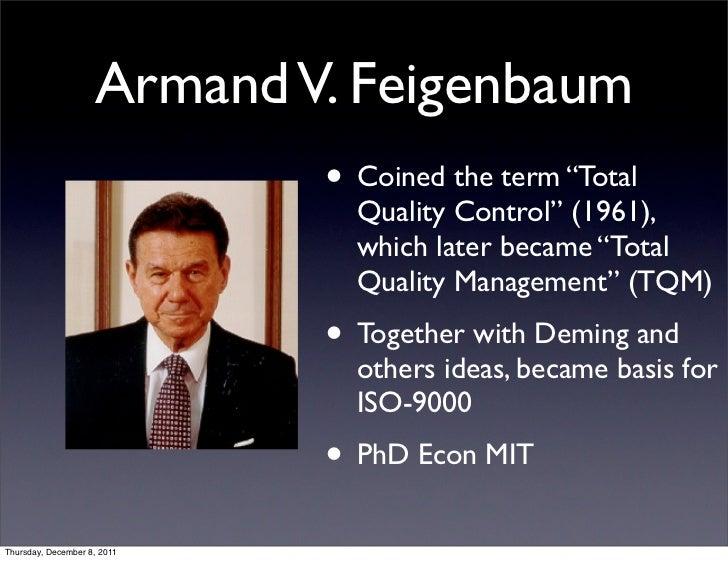 armand feigenbaum theory on tqm