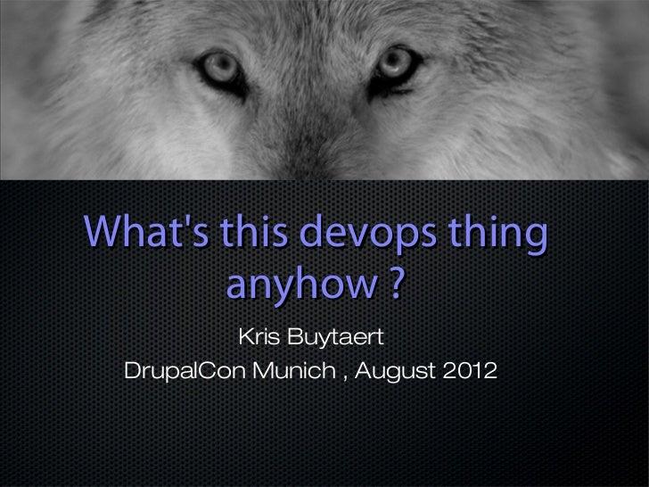 Devops for  drupal