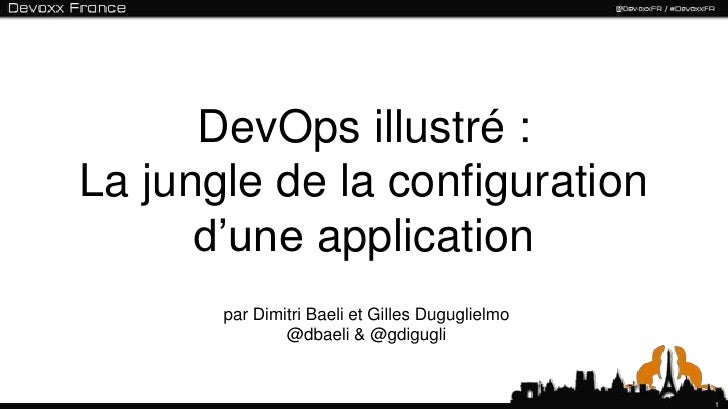 DevOps illustré :La jungle de la configuration      d'une application       par Dimitri Baeli et Gilles Duguglielmo       ...