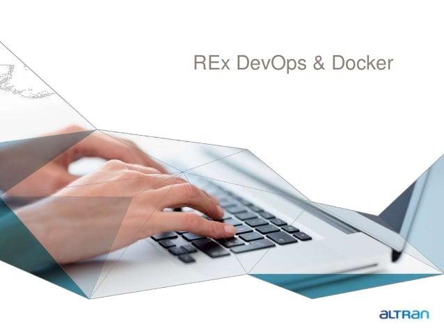 REx DevOps & Docker