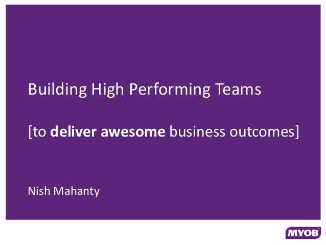 Devops down under - building high performing teams