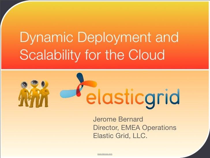 Elastic Grid BoF talk at Devoxx 08 (Antwerp, Belgium)