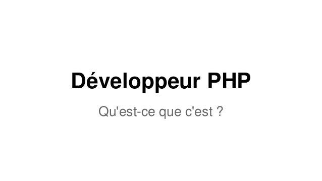 Développeur PHP Qu'est-ce que c'est ?