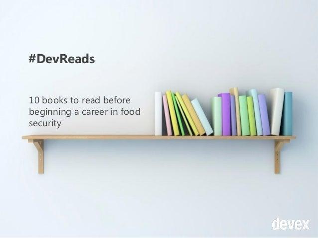 Top 10 #devreads before beginning a career in food security