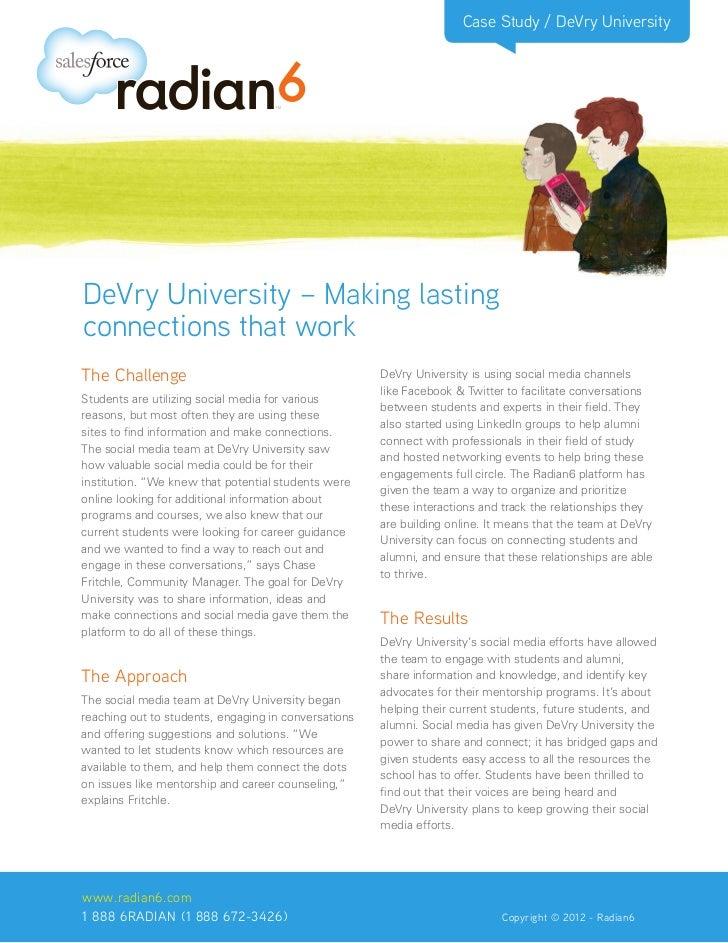 DeVry University Social Media Case Study