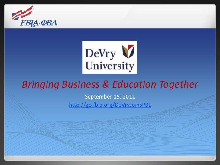 DeVry PBL presentation