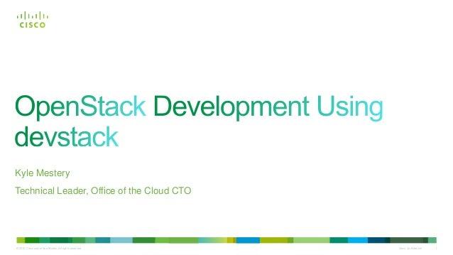 OpenStack Development Using devstack