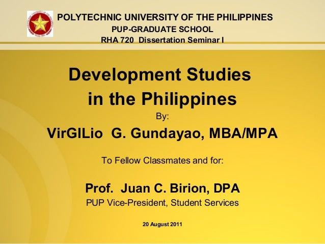Dissertation development studies