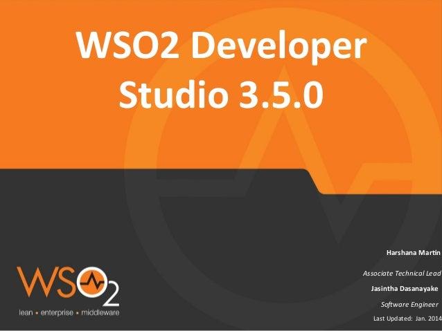 Product Release Webinar- WSO2 Developer Studio 3.5