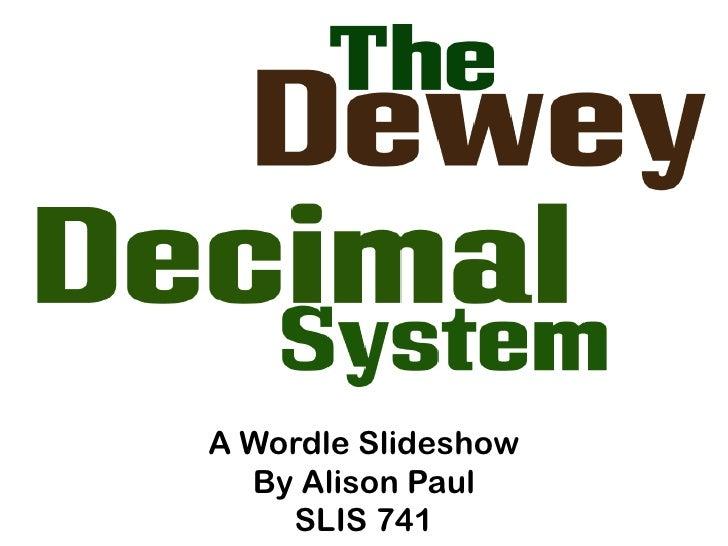 A Wordle Slideshow  By Alison Paul    SLIS 741