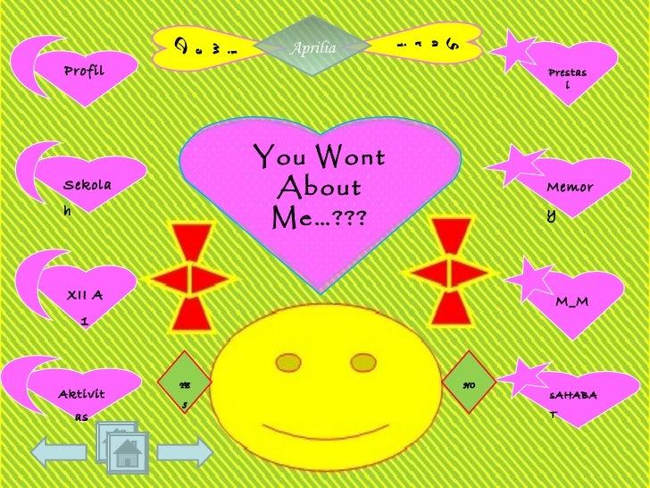 You Wont About Me…??? YES NO Aprilia Profil Sekolah XII A 1 Aktivitas sAHABAT M_M Memory Prestasi Sari Dewi