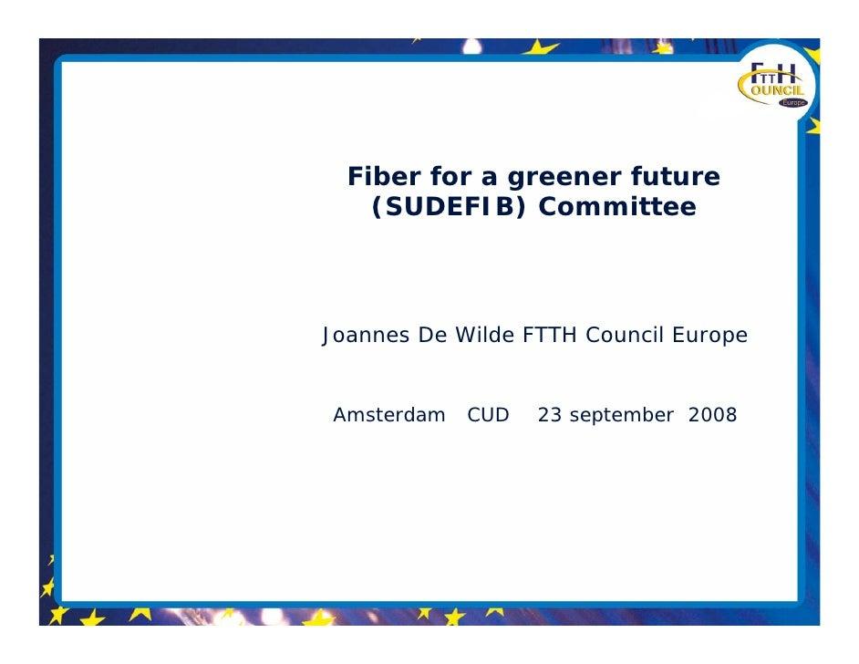 Joannes De Wilde - Fiber for a greener future